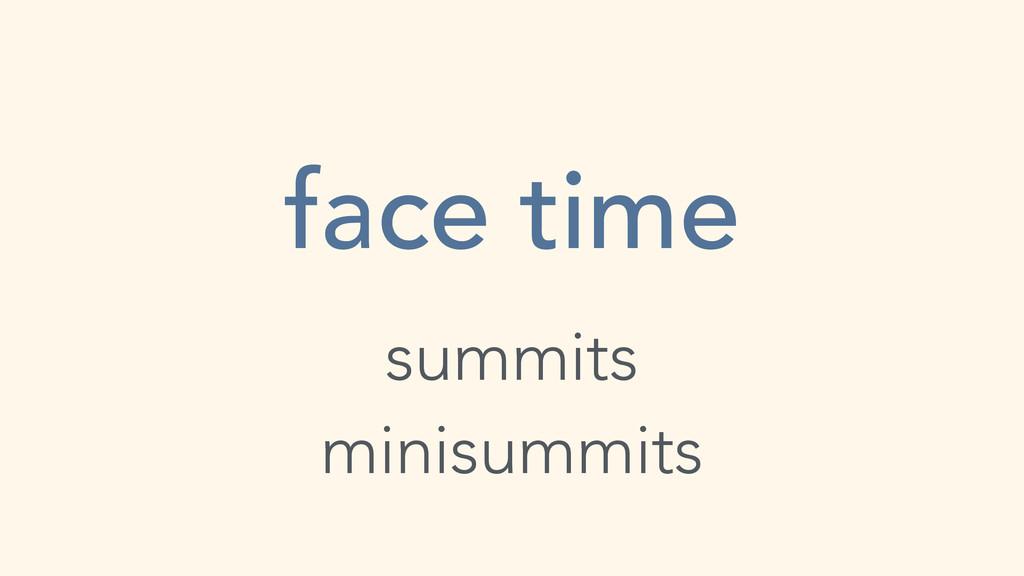 face time summits minisummits
