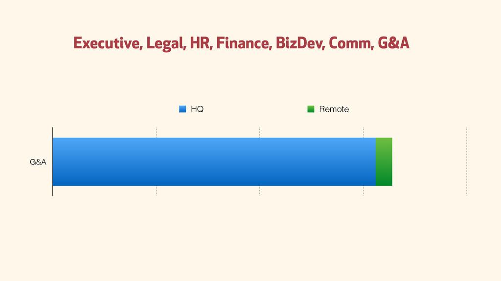 G&A HQ Remote Executive, Legal, HR, Finance, Bi...