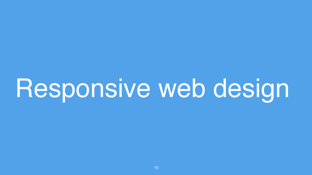 10 Responsive web design
