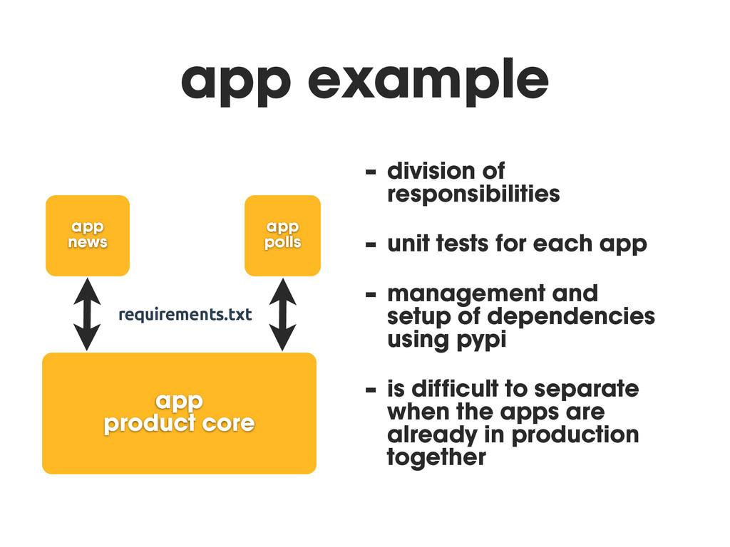 app example - division of responsibilities - un...