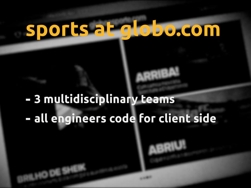 globo.com - 3 multidisciplinary teams - all eng...