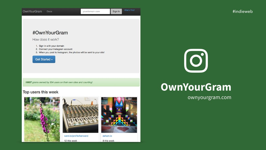 #indieweb OwnYourGram ownyourgram.com