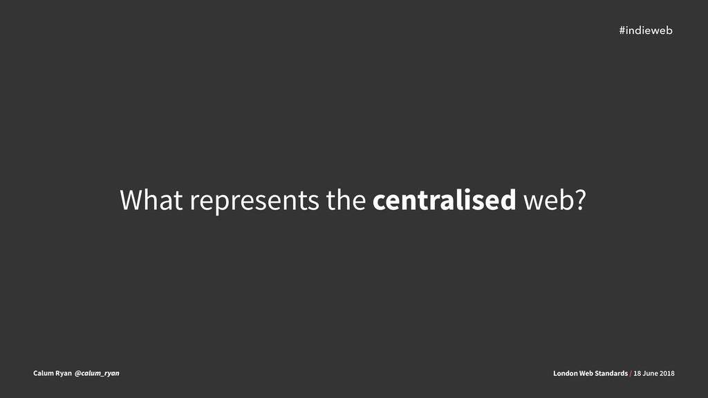 London Web Standards / 18 June 2018 Calum Ryan ...