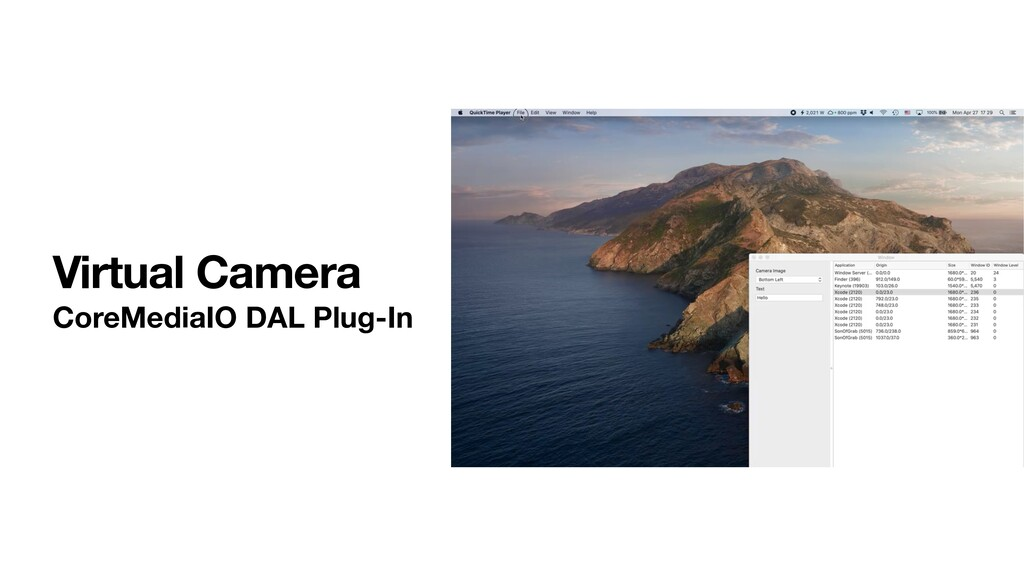 Virtual Camera CoreMediaIO DAL Plug-In