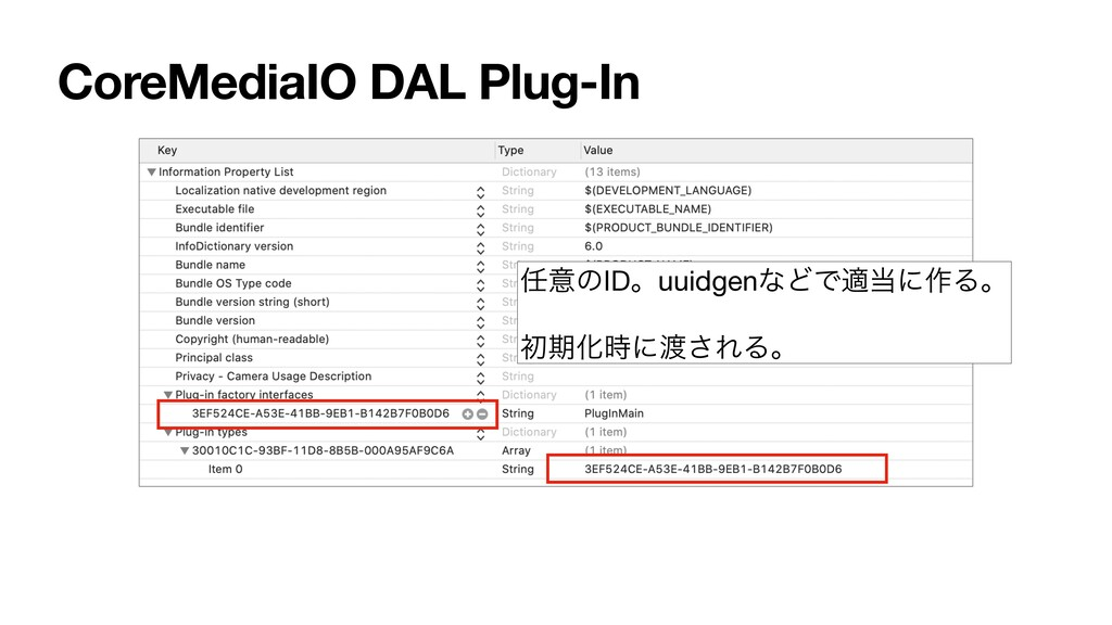 CoreMediaIO DAL Plug-In ҙͷIDɻuuidgenͳͲͰదʹ࡞Δɻ ...