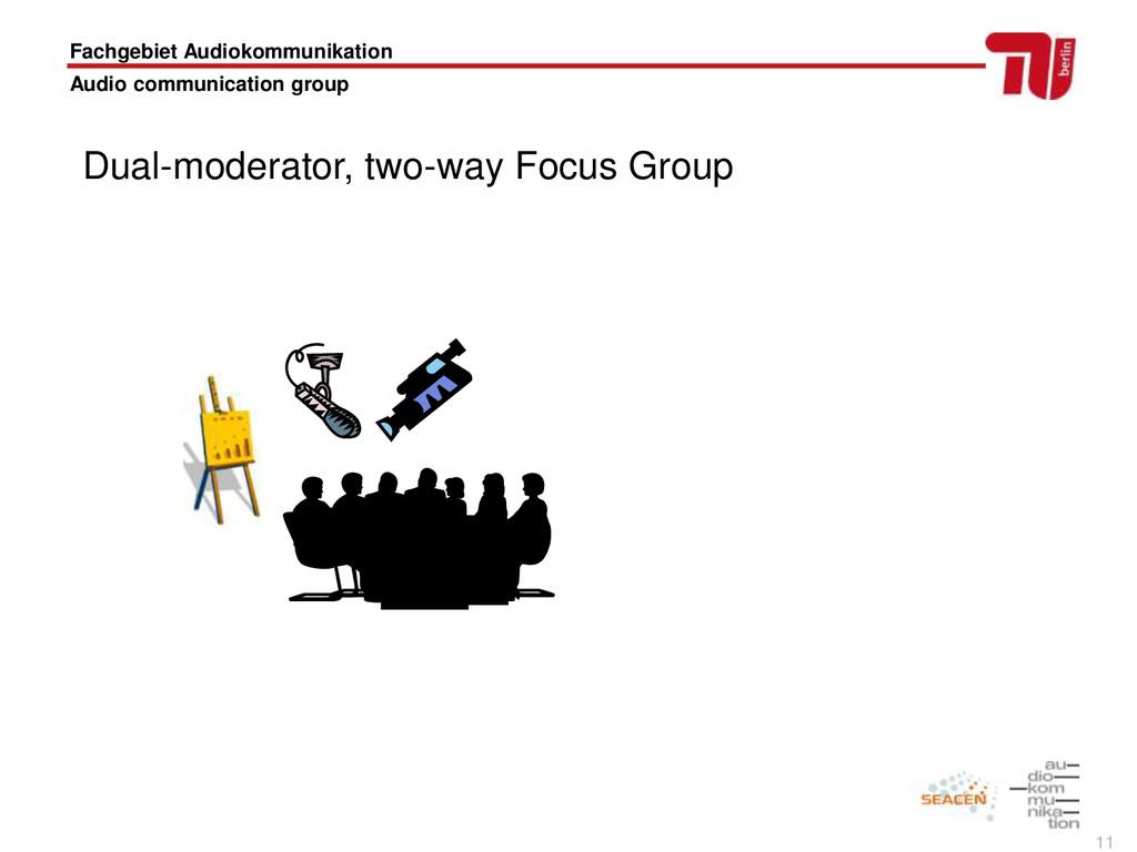 11 Fachgebiet Audiokommunikation Audio communic...