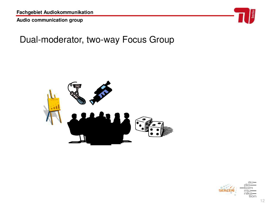 12 Fachgebiet Audiokommunikation Audio communic...