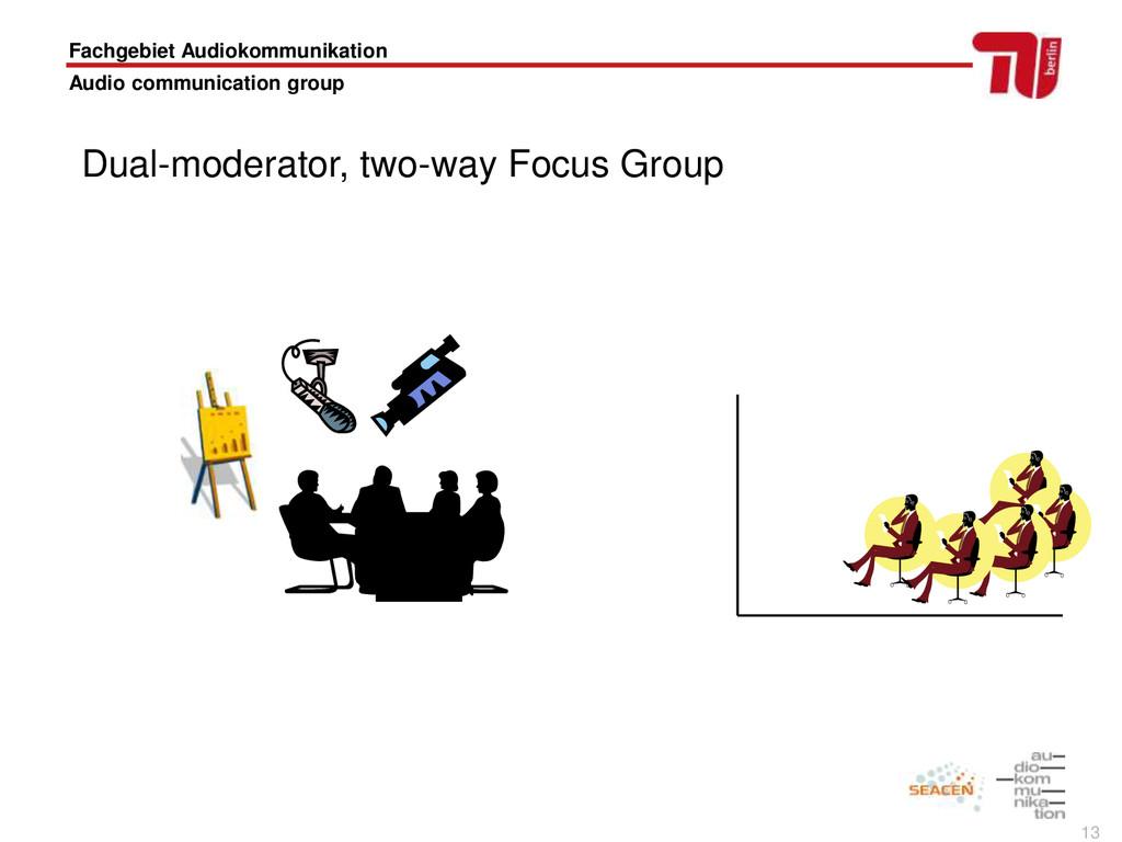 13 Fachgebiet Audiokommunikation Audio communic...