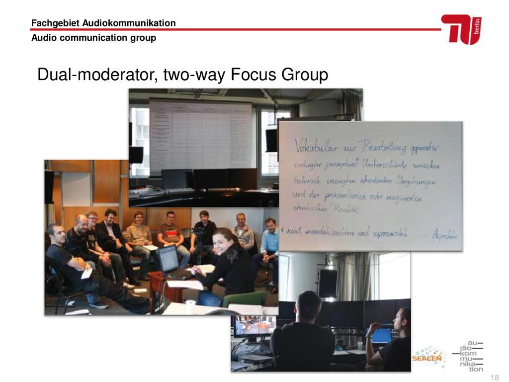 18 Fachgebiet Audiokommunikation Audio communic...