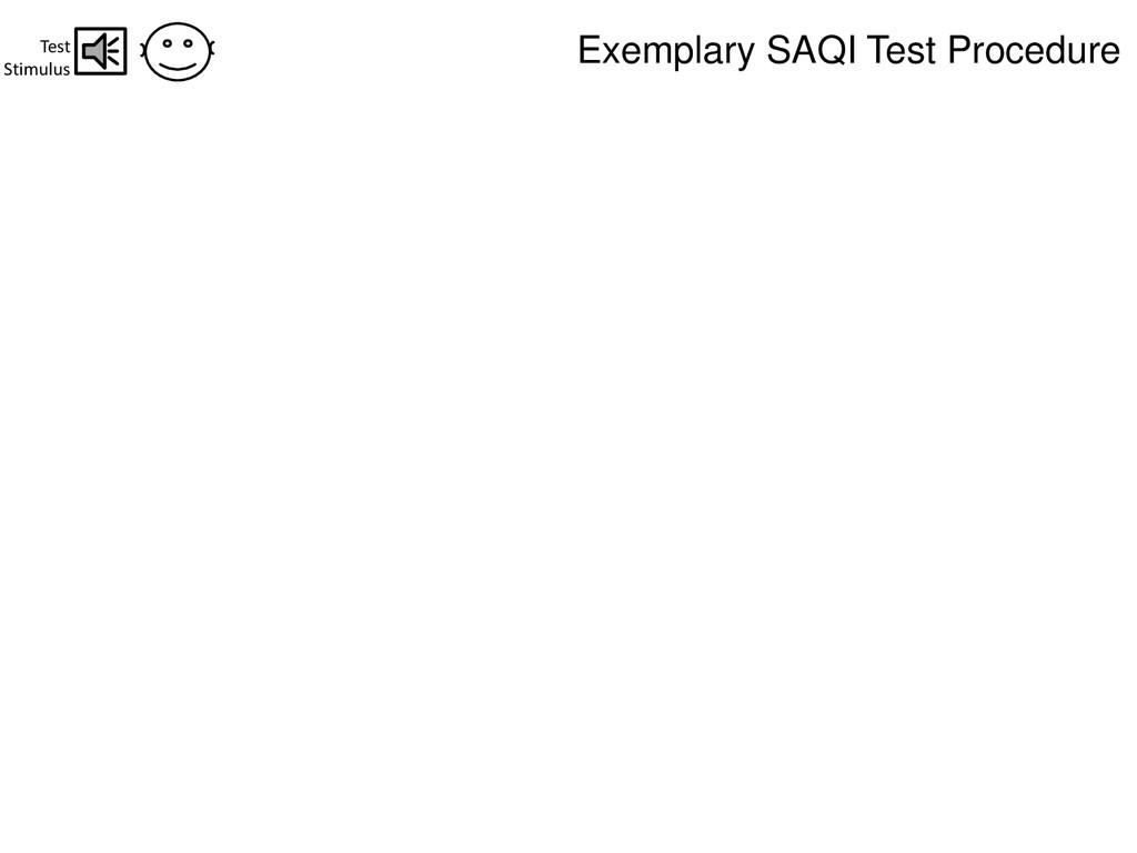 Test Stimulus Exemplary SAQI Test Procedure