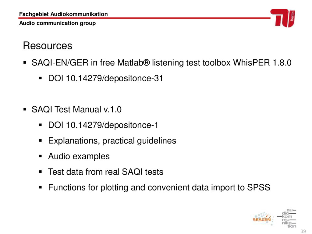 39 Resources  SAQI-EN/GER in free Matlab® list...