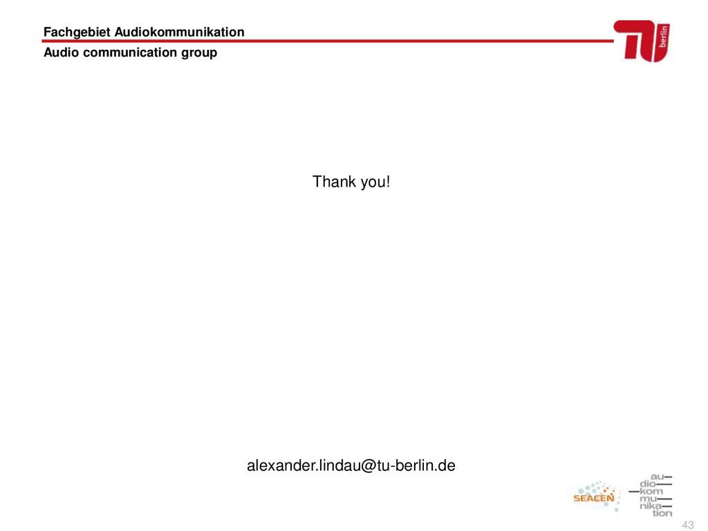 43 Fachgebiet Audiokommunikation Audio communic...