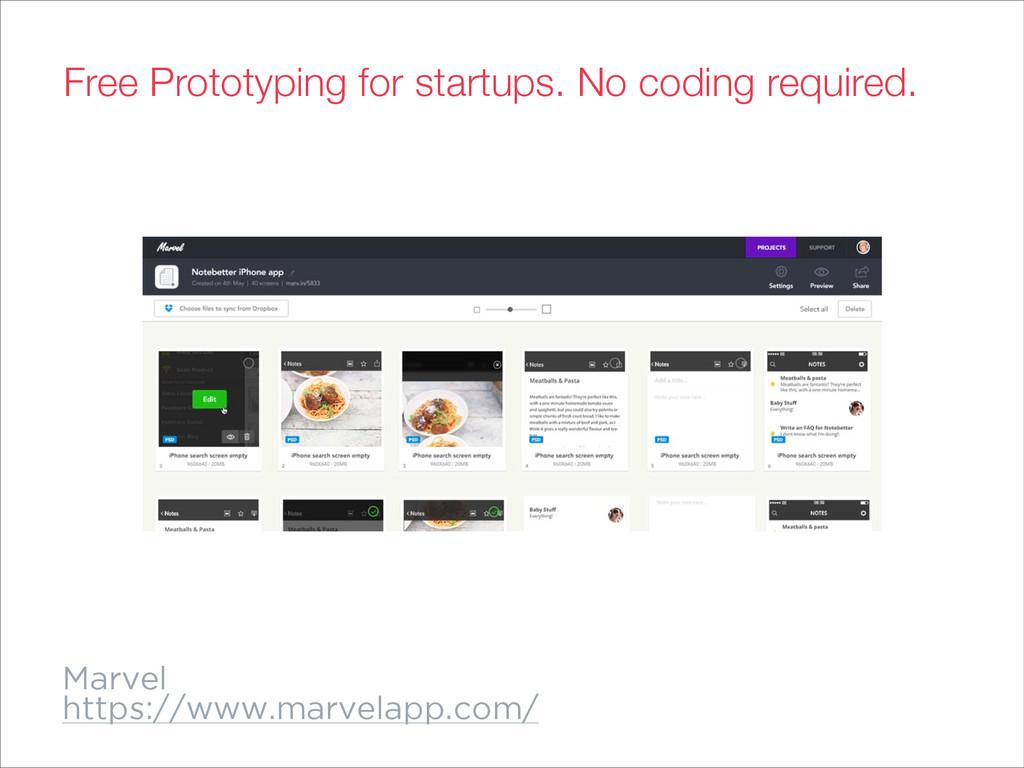 Marvel https://www.marvelapp.com/ Free Prototyp...
