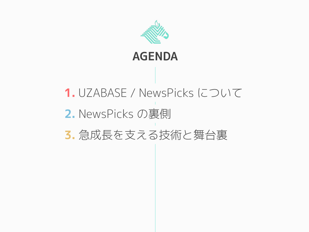 AGENDA 1. UZABASE / NewsPicks について 2. NewsPicks...