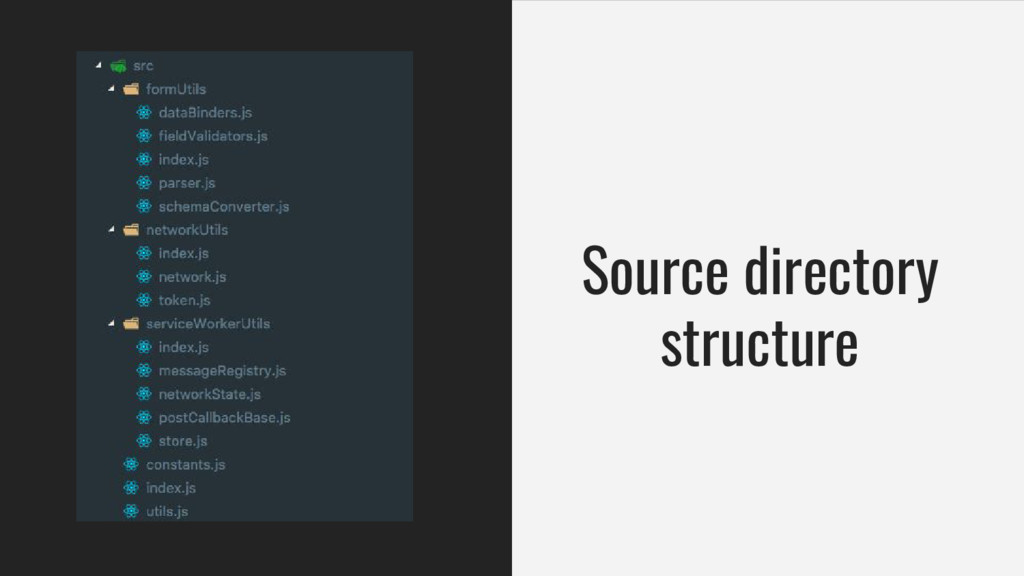 Source directory structure