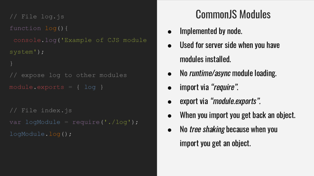 // File log.js function log(){ console.log('Exa...