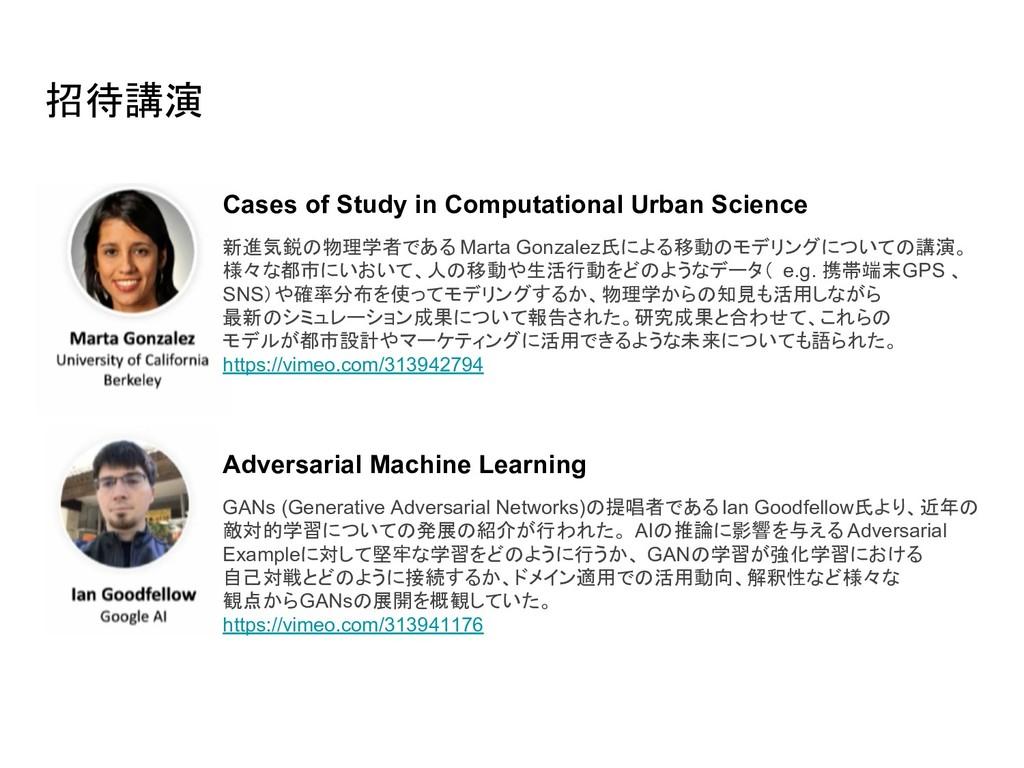招待講演 Cases of Study in Computational Urban Scie...
