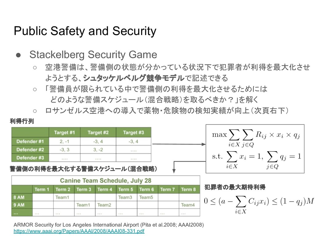 Public Safety and Security ● Stackelberg Securi...