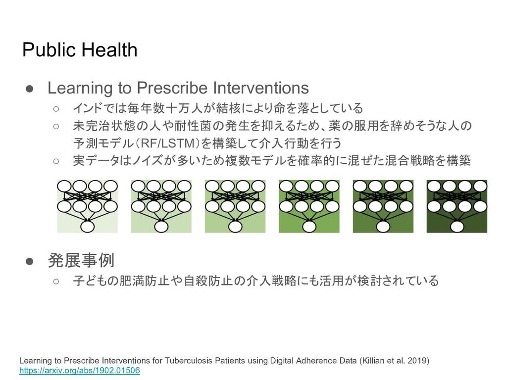 Public Health ● Learning to Prescribe Intervent...