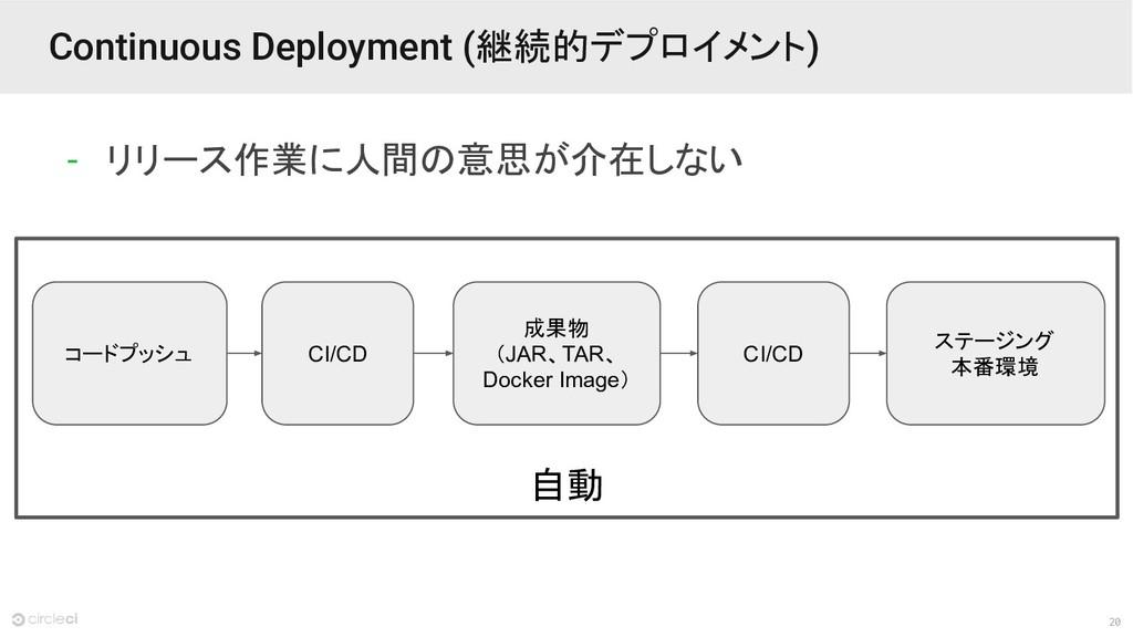 20 自動 Continuous Deployment (継続的デプロイメント) - リリース...