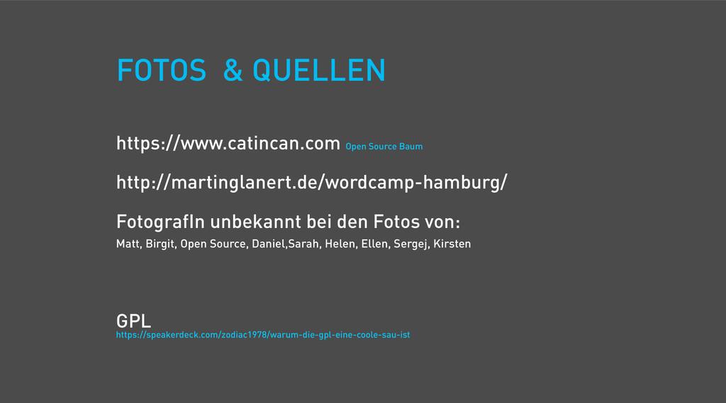 FOTOS & QUELLEN https://www.catincan.com Open S...