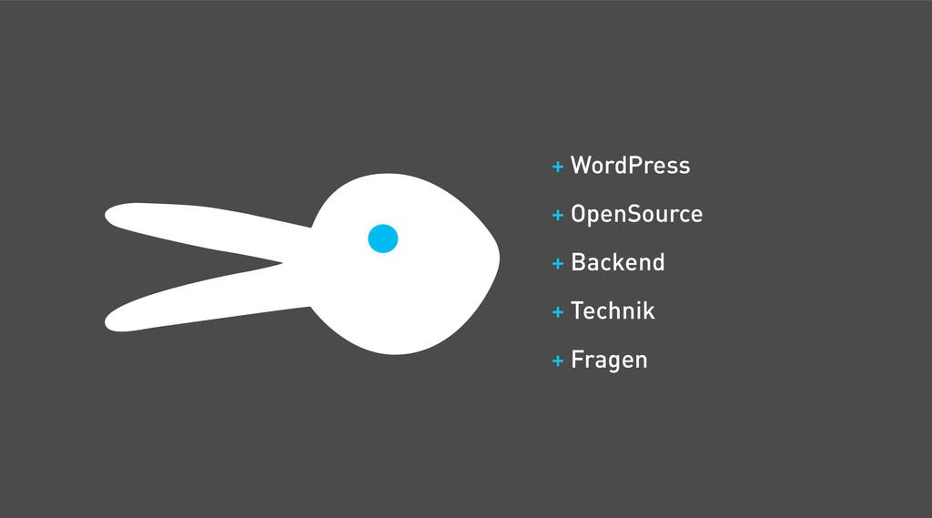 + WordPress + OpenSource + Backend + Technik + ...