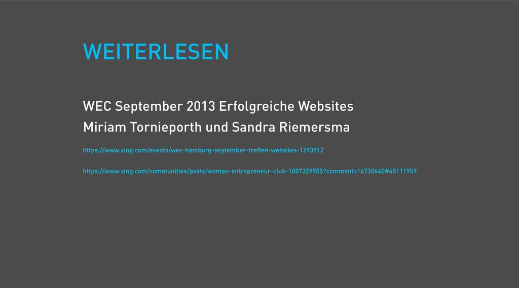 WEC September 2013 Erfolgreiche Websites Miriam...