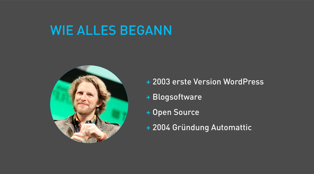 WIE ALLES BEGANN + 2003 erste Version WordPress...