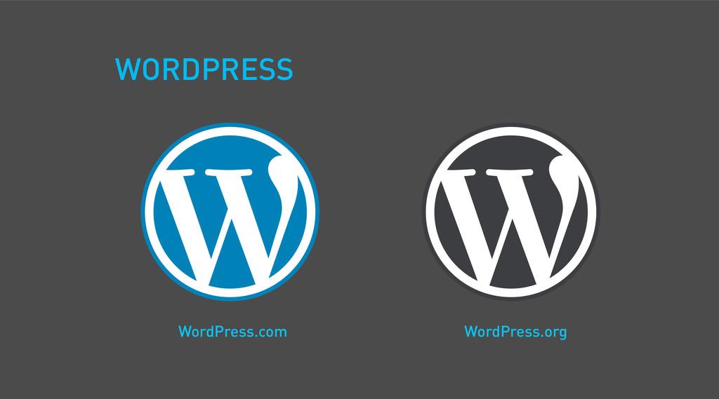 WordPress.org WordPress.com WORDPRESS
