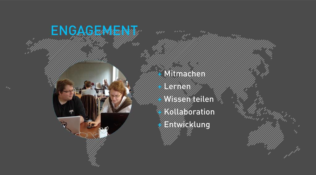 + Mitmachen + Lernen + Wissen teilen + Kollabor...