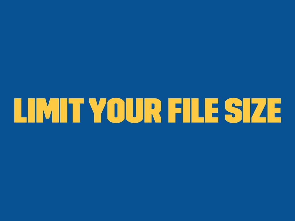 Limit your file size