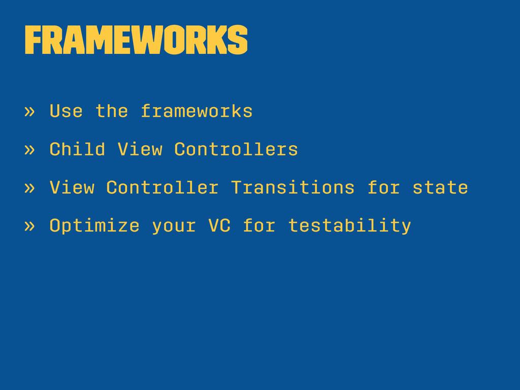 Frameworks » Use the frameworks » Child View Co...