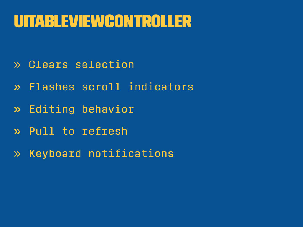 UITableViewController » Clears selection » Flas...