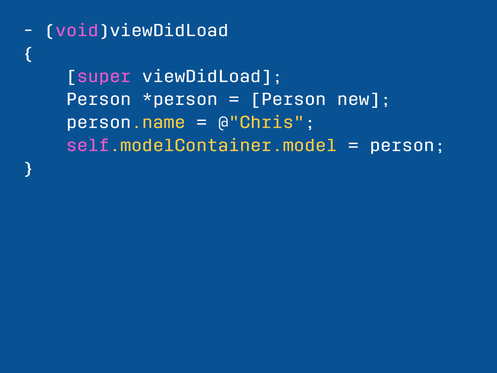 - (void)viewDidLoad { [super viewDidLoad]; Pers...