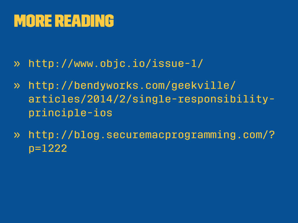 More reading » http://www.objc.io/issue-1/ » ht...