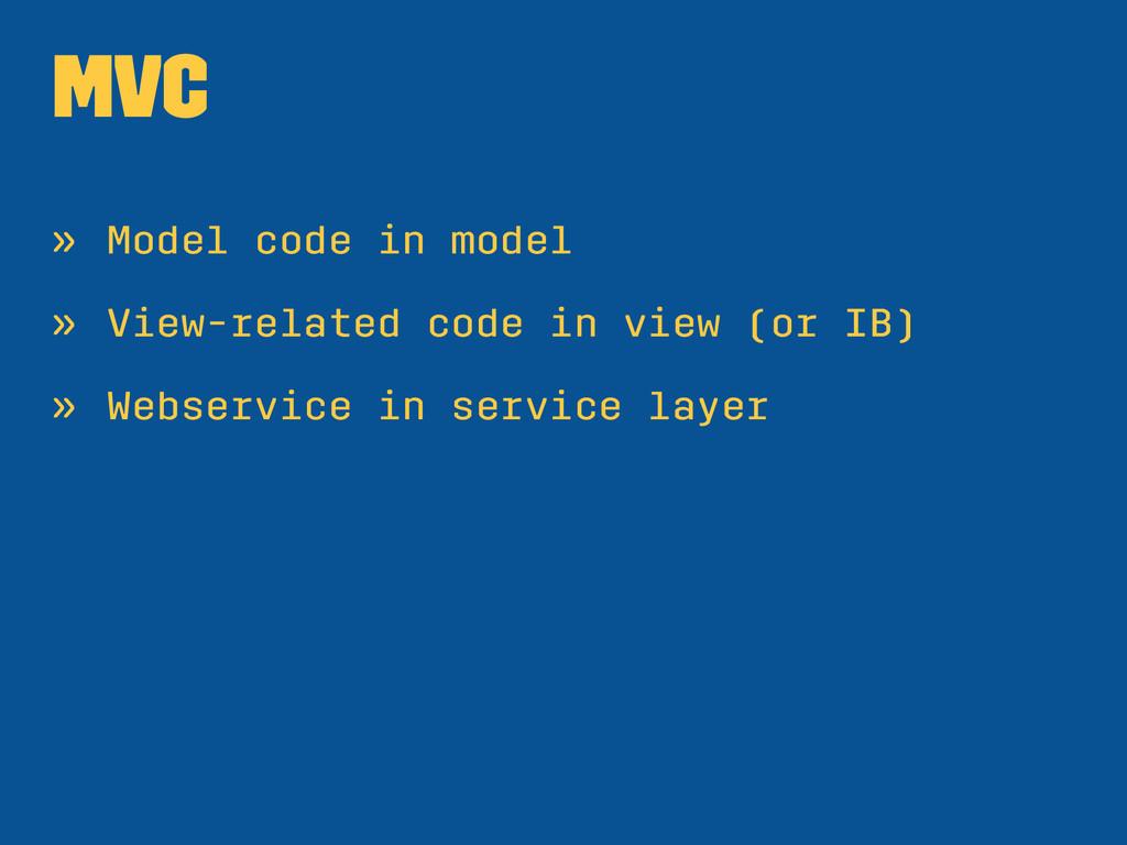 MVC » Model code in model » View-related code i...