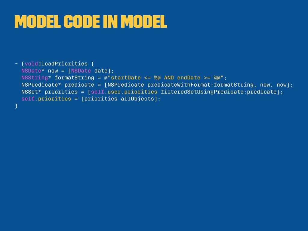 Model code in model - (void)loadPriorities { NS...
