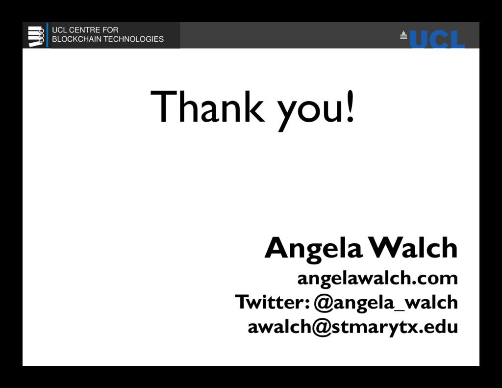 Angela Walch angelawalch.com Twitter: @angela_w...