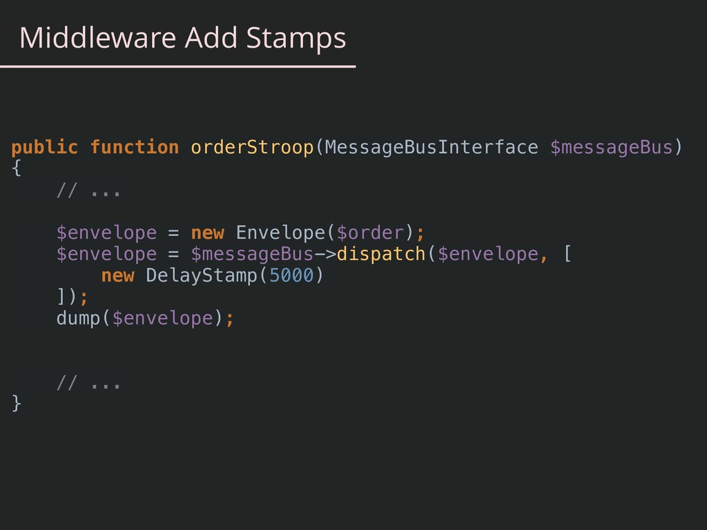 Middleware Add Stamps public function orderStro...