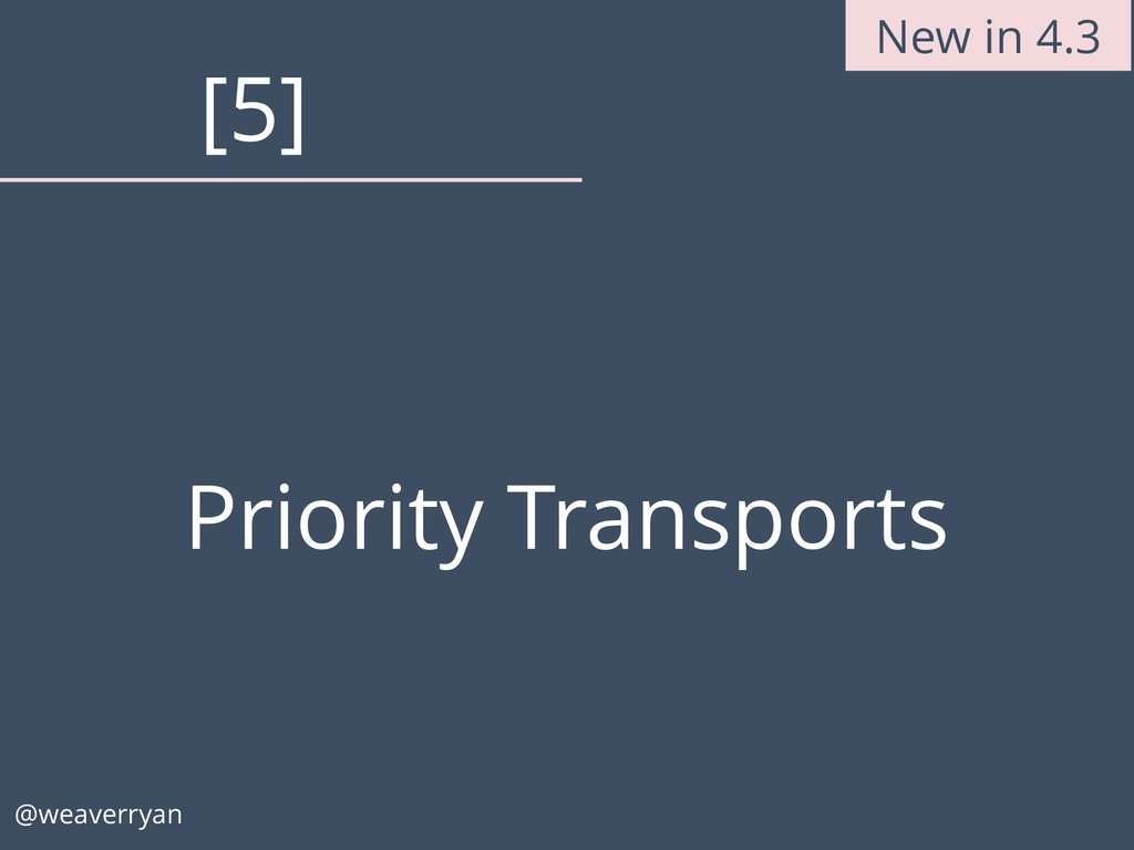 Priority Transports @weaverryan [5] New in 4.3