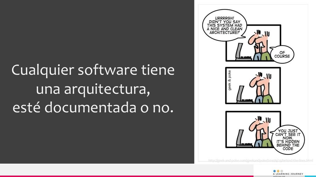 Cualquier software tiene una arquitectura, esté...