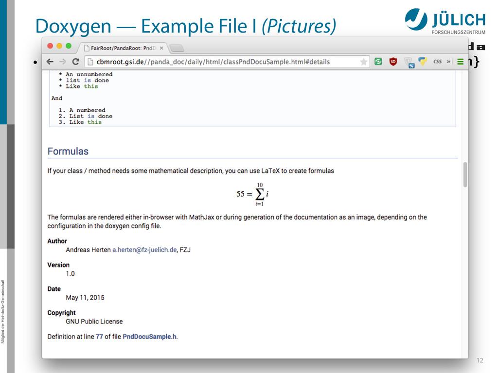 Mitglied der Helmholtz-Gemeinschaft Doxygen — E...