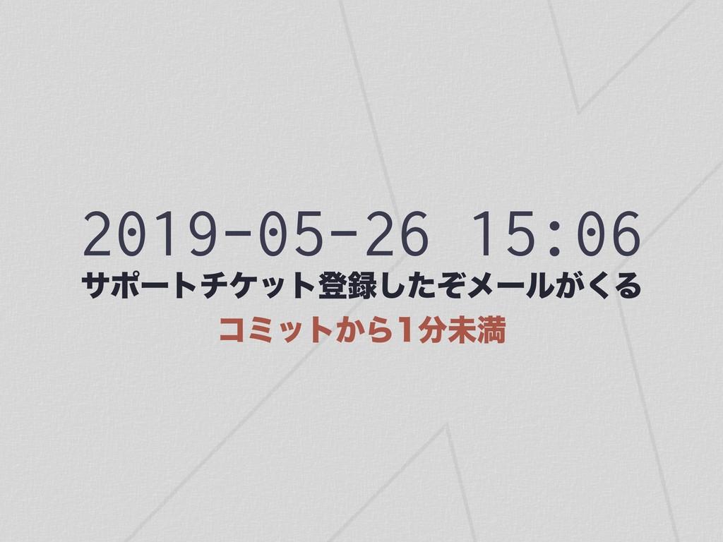 2019-05-26 15:06 αϙʔτνέοτొͨͧ͠ϝʔϧ͕͘Δ ίϛοτ͔Βະຬ