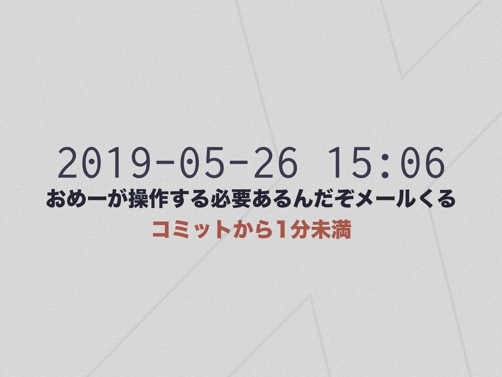 2019-05-26 15:06 ͓Ίʔ͕ૢ࡞͢Δඞཁ͋ΔΜͩͧϝʔϧ͘Δ ίϛοτ͔Β...
