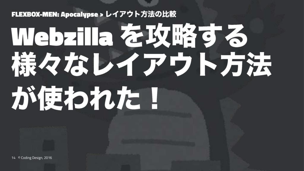 FLEXBOX-MEN: Apocalypse > ϨΠΞτํ๏ͷൺֱ Webzilla Λ...
