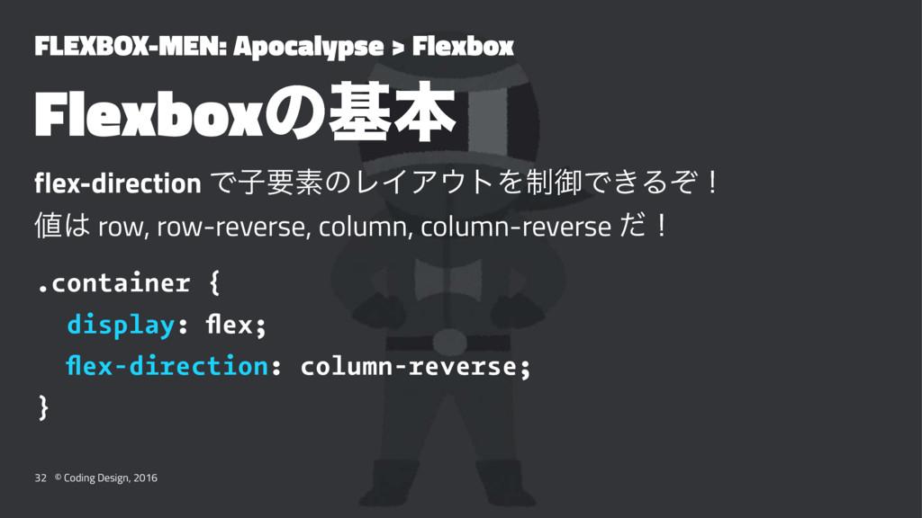 FLEXBOX-MEN: Apocalypse > Flexbox Flexboxͷجຊ fl...