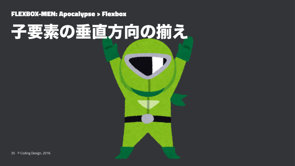FLEXBOX-MEN: Apocalypse > Flexbox ࢠཁૉͷਨํͷἧ͑ 3...
