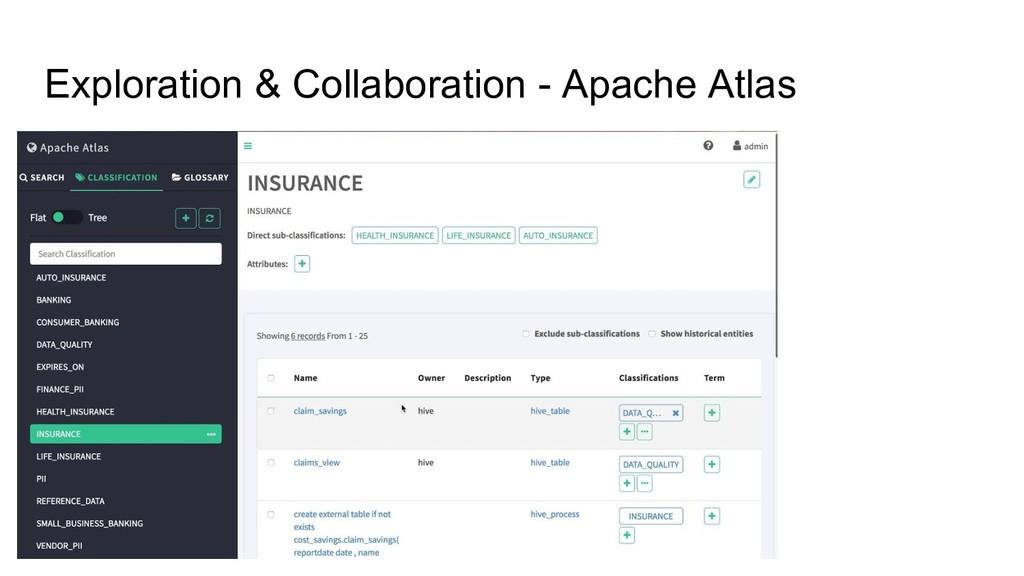 Exploration & Collaboration - Apache Atlas