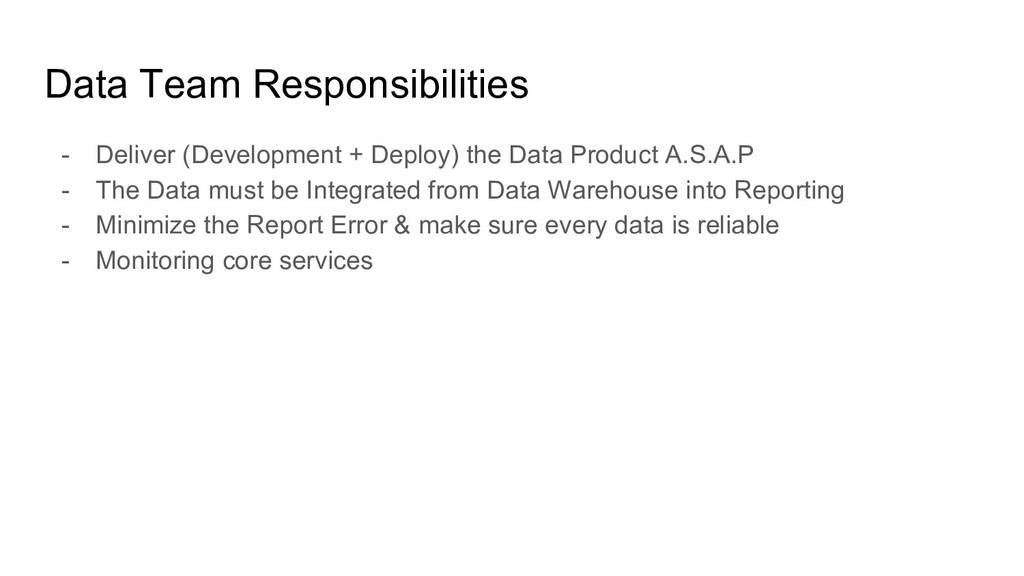 Data Team Responsibilities - Deliver (Developme...