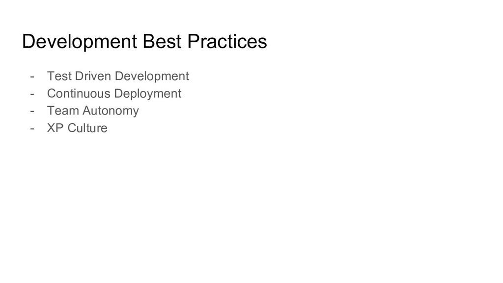 Development Best Practices - Test Driven Develo...